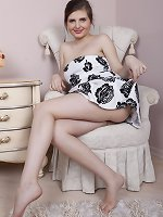 Zlata strips naked on her favorite armchair